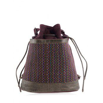 Convertible Ethnic Linen Backpack