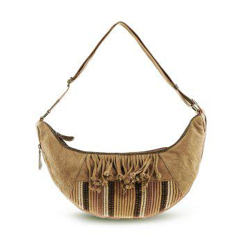 Ethnic Tassel Linen Crossbody Bag