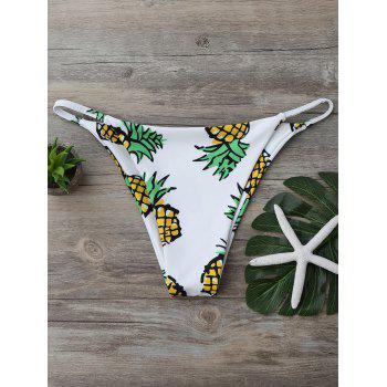 Pineapple High Cut Swim Bottom - WHITE WHITE