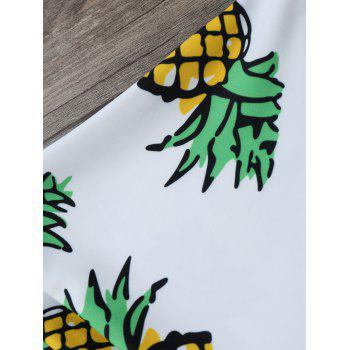 Pineapple High Cut Swim Bottom - Blanc M
