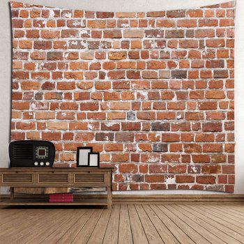 Waterproof Brick Print Wall Hanging Tapestry - BROWN W79 INCH * L79 INCH