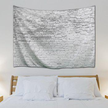 Stone Brick Decorative Tapestry Wall Hangings - GREY WHITE W71 INCH * L91 INCH