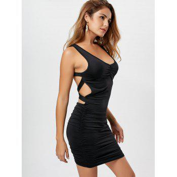 Robe en gaine à encolure à encolure en V - Noir L