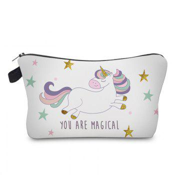 Cartoon Unicorn Printed Makeup Bag