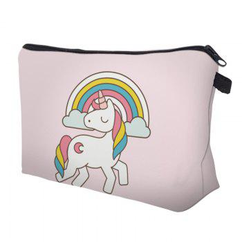 Cartoon Unicorn Printed Makeup Bag -  LIGHT PINK