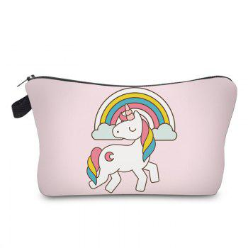 Cartoon Unicorn Printed Makeup Bag - LIGHT PINK LIGHT PINK