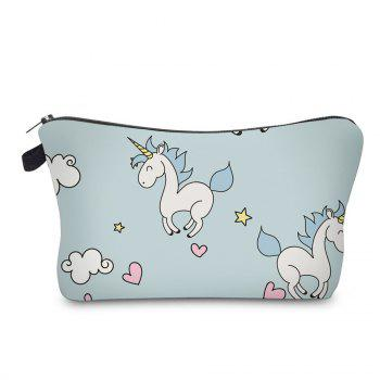 Sac de maquillage imprimé Cartoon Unicorn