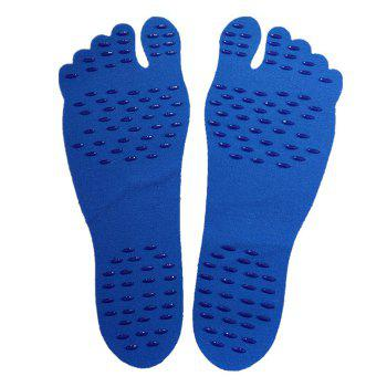 Foot Pads For Summer Beach Stick On Soles Flexible Feet Protection - BLUE S