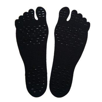 Foot Pads For Summer Beach Stick On Soles Flexible Feet Protection - BLACK BLACK