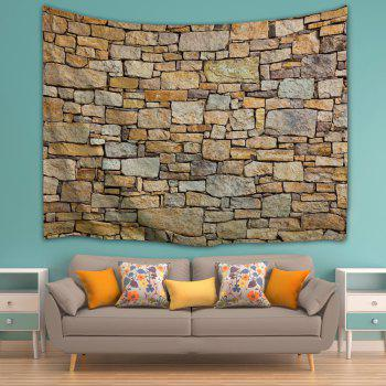 Natural Stone Brick Print Wall Hanging Tapestry - BROWN W59 INCH * L79 INCH