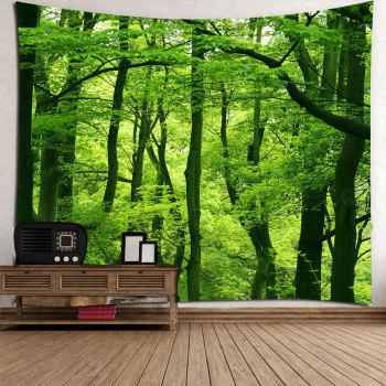 Waterproof Forest Wall Art Tapestry - GREEN W79 INCH * L79 INCH