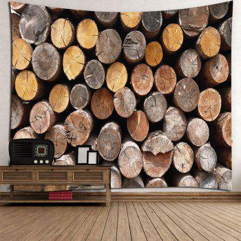 Round Wood Print Waterproof Wall Tapestry - WOOD W79 INCH * L59 INCH