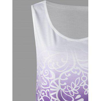 Plus Size Ombre Tank Dress - PURPLE 5XL
