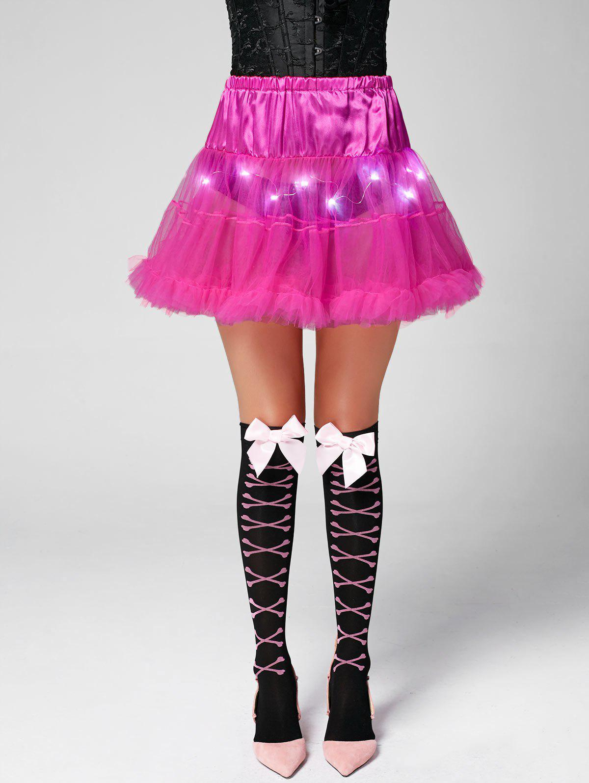 Ruffles Light Up Tutu Voile Cosplay Jupe - [