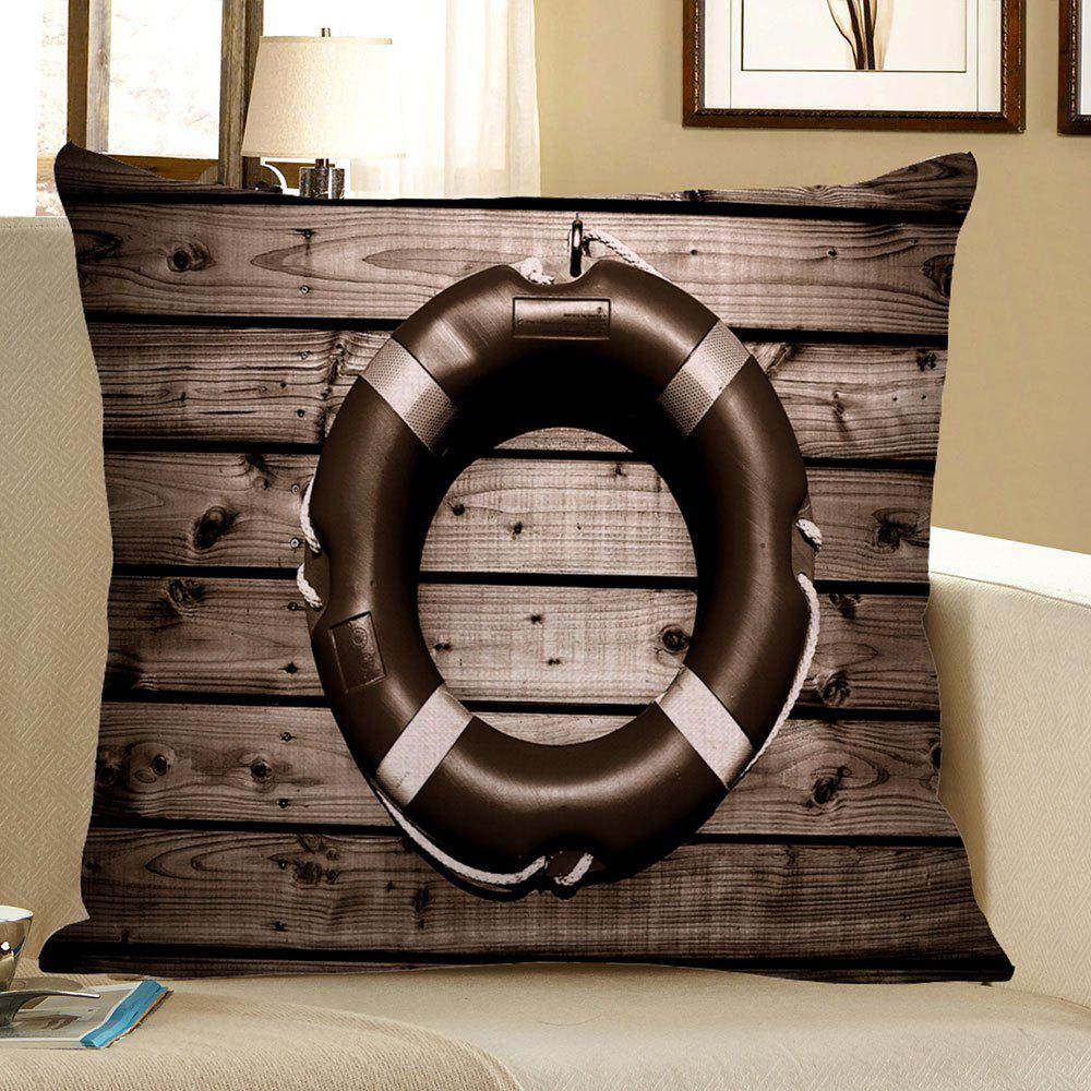 Vintage Steering Wheel Wood Grain Pillow Case - DEEP GRAY 45*45CM