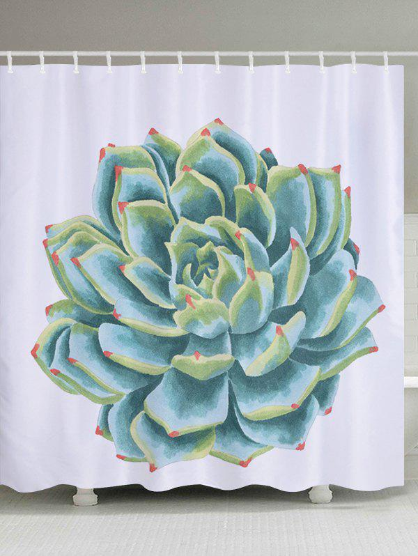 Succulents Pattern Fabric Bathroom Shower Curtain mymei london big ben pattern shower curtain bathroom waterproof fabric home decor