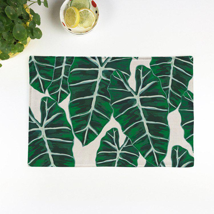 Leaves Linen Eco Friendly Table Decor Placemat   GREEN 28*44CM
