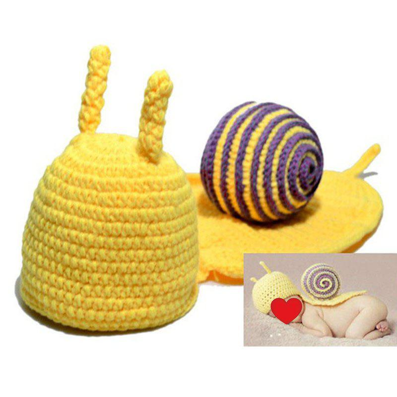 Cartoon Snail Shape Baby Knitted Hooded Blanket - LIGHT PURPLE