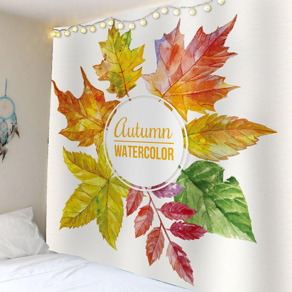 2018 Watercolor Maple Leaf Waterproof Wall Tapestry COLORFUL W ...