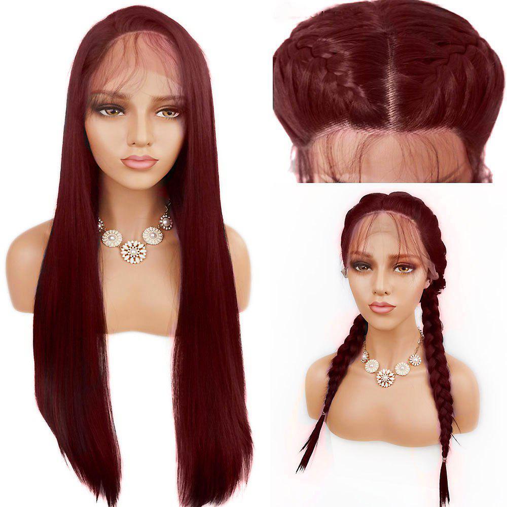 Free Part Straight Long Lace Front Synthetic Wig cwn2c3100 long red new style kinky silky straight synthetic lace front wig free shipping
