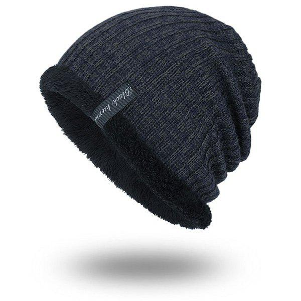 Warm Velvet Lining Knitting Beanie tiny rivet embellished knitting beanie