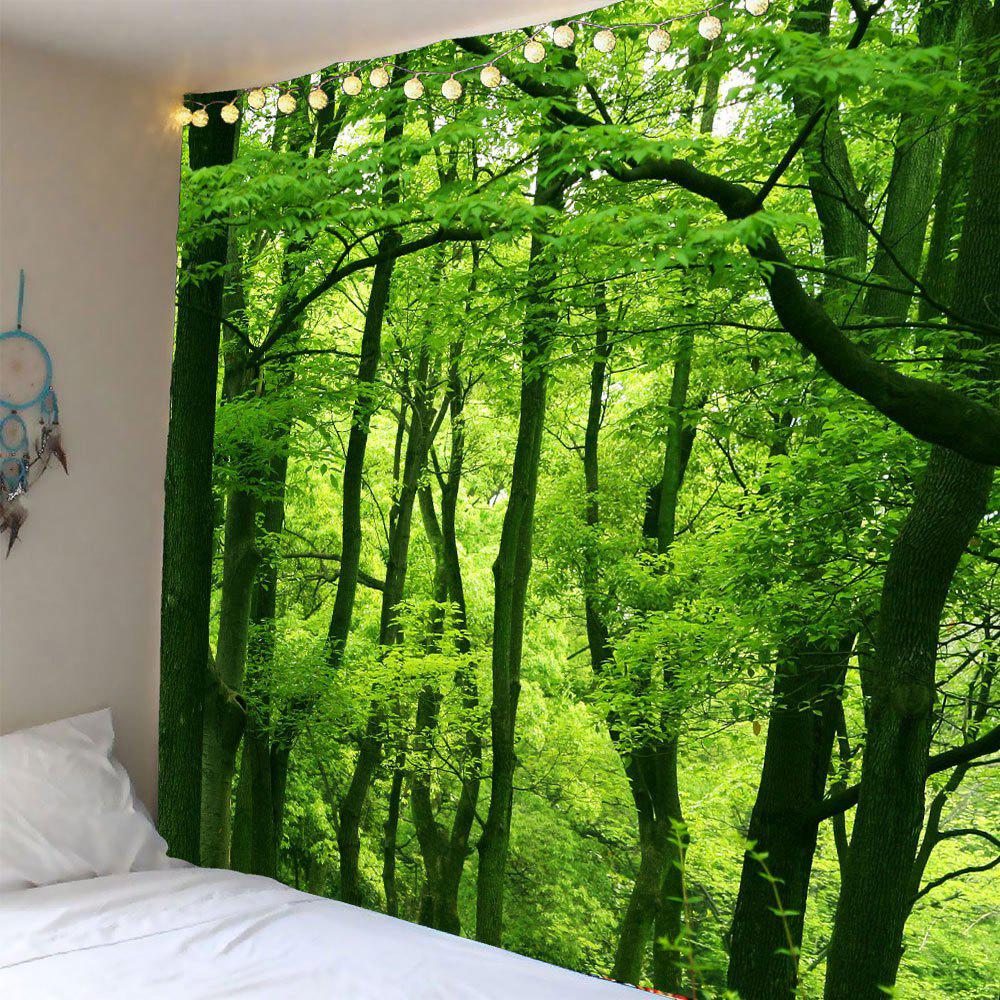 Waterproof Forest Wall Art Tapestry - GREEN W59 INCH * L59 INCH