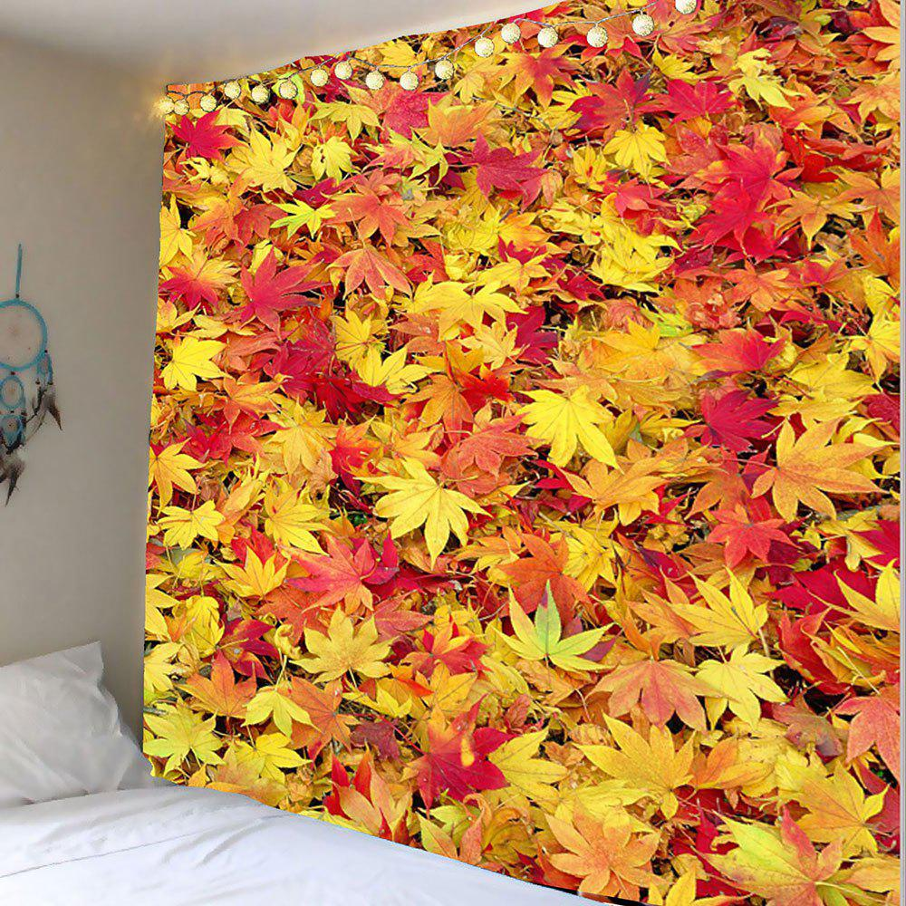 Maple Leaf Print Wall Tapestry - ORANGE RED W79 INCH * L71 INCH