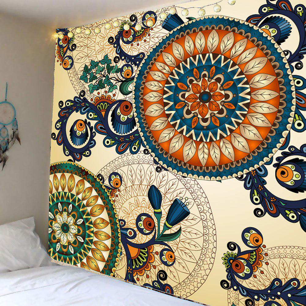 Floral Print Wall Hanging Tapestry skull floral print wall hanging tapestry