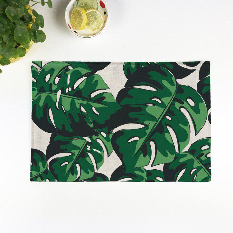 Plant Print Non Slip Heat Insulation Placemat woven vinyl non slip insulation placemat washable table mats