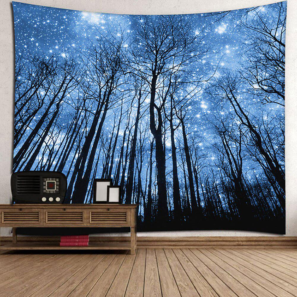 Wall Hanging Forest Pattern Tapestry - BLUE W71 INCH * L71 INCH