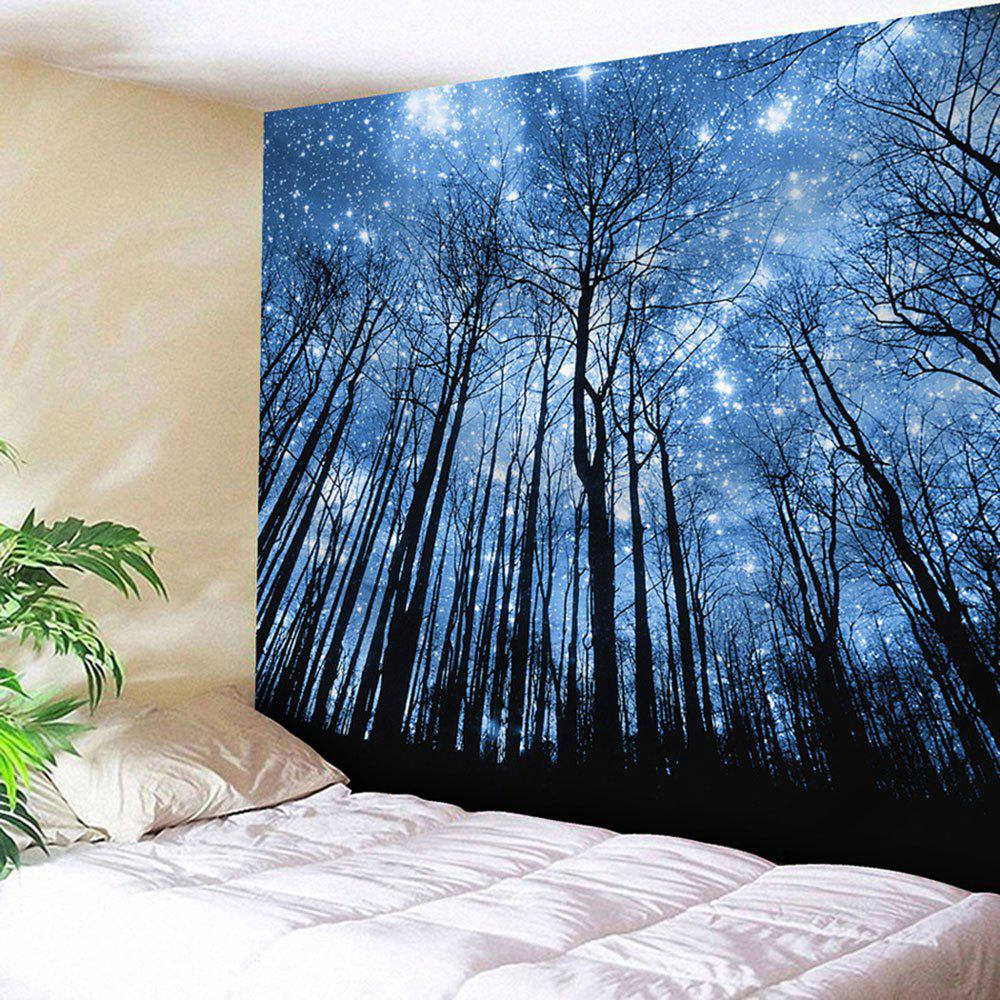 2018 Wall Hanging Forest Pattern Tapestry BLUE W INCH L