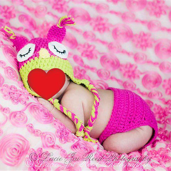 Owl Knitted Baby Photography Hat and Diaper - TUTTI FRUTTI