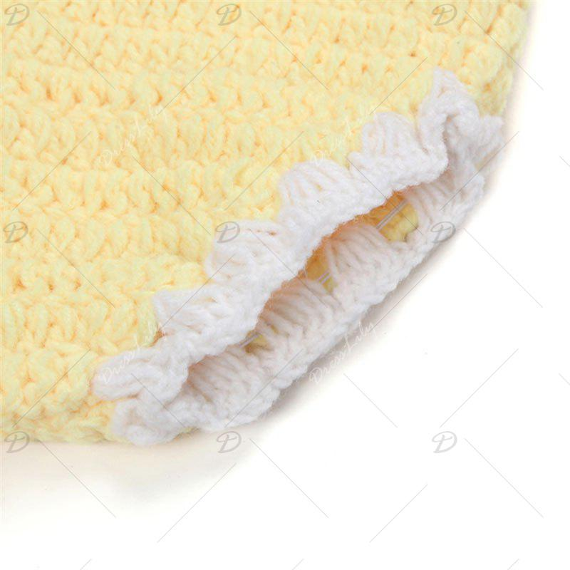 African Chrysanthemum Knit Baby Photography Clothes Set - YELLOW