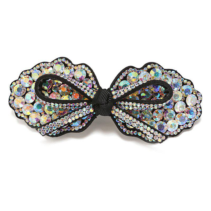 Rhinestoned Bows Headwear Barrette - COLORMIX