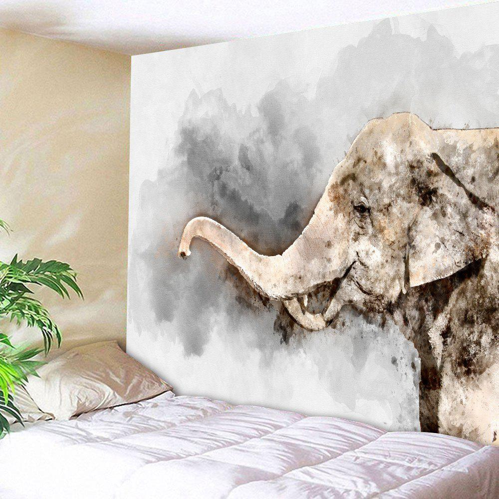 Elephant Oil Painting Home Decor Wall Tapestry home decor injured elephant waterproof wall tapestry