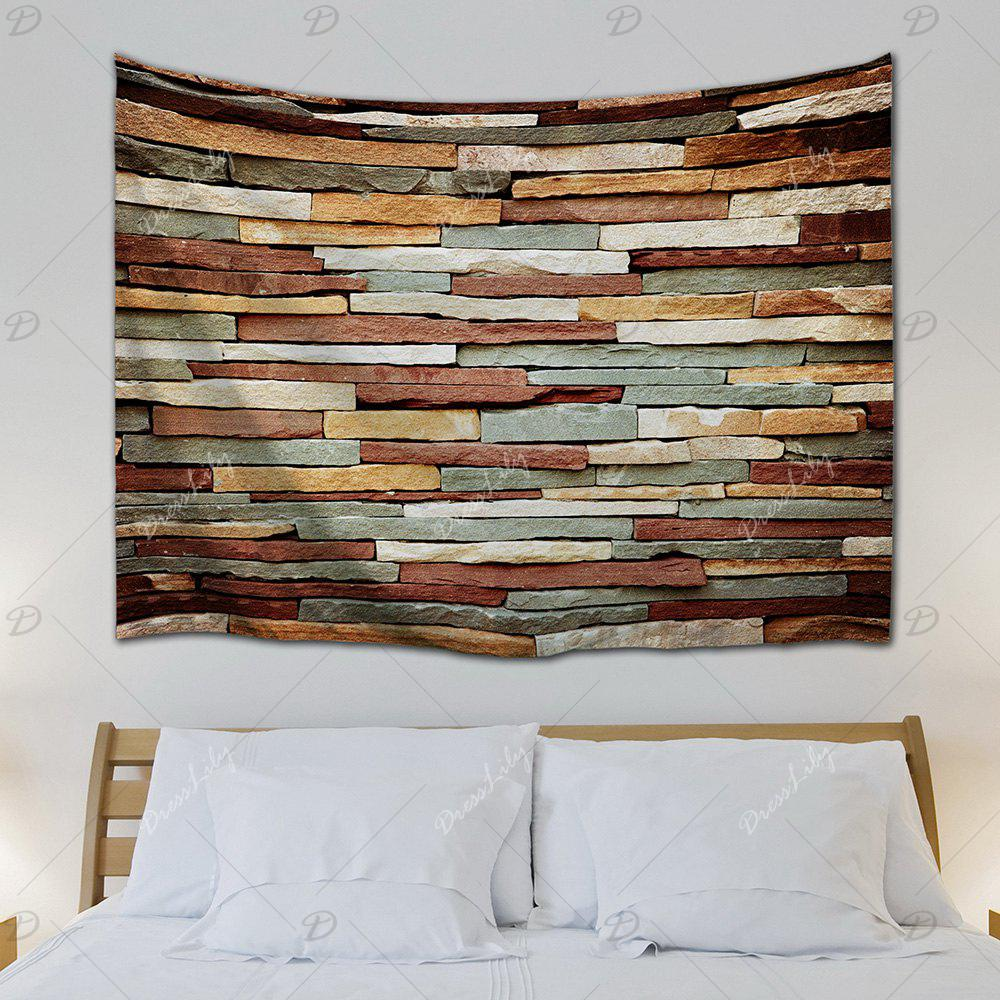 Wall Art Vintage Stone Brick Tapestry For Bedroom - COLORMIX W71 INCH * L91 INCH