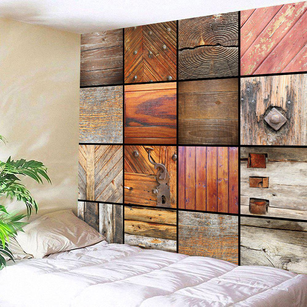 Multiuse Woody Grid Wall Art DecorativeTapestry