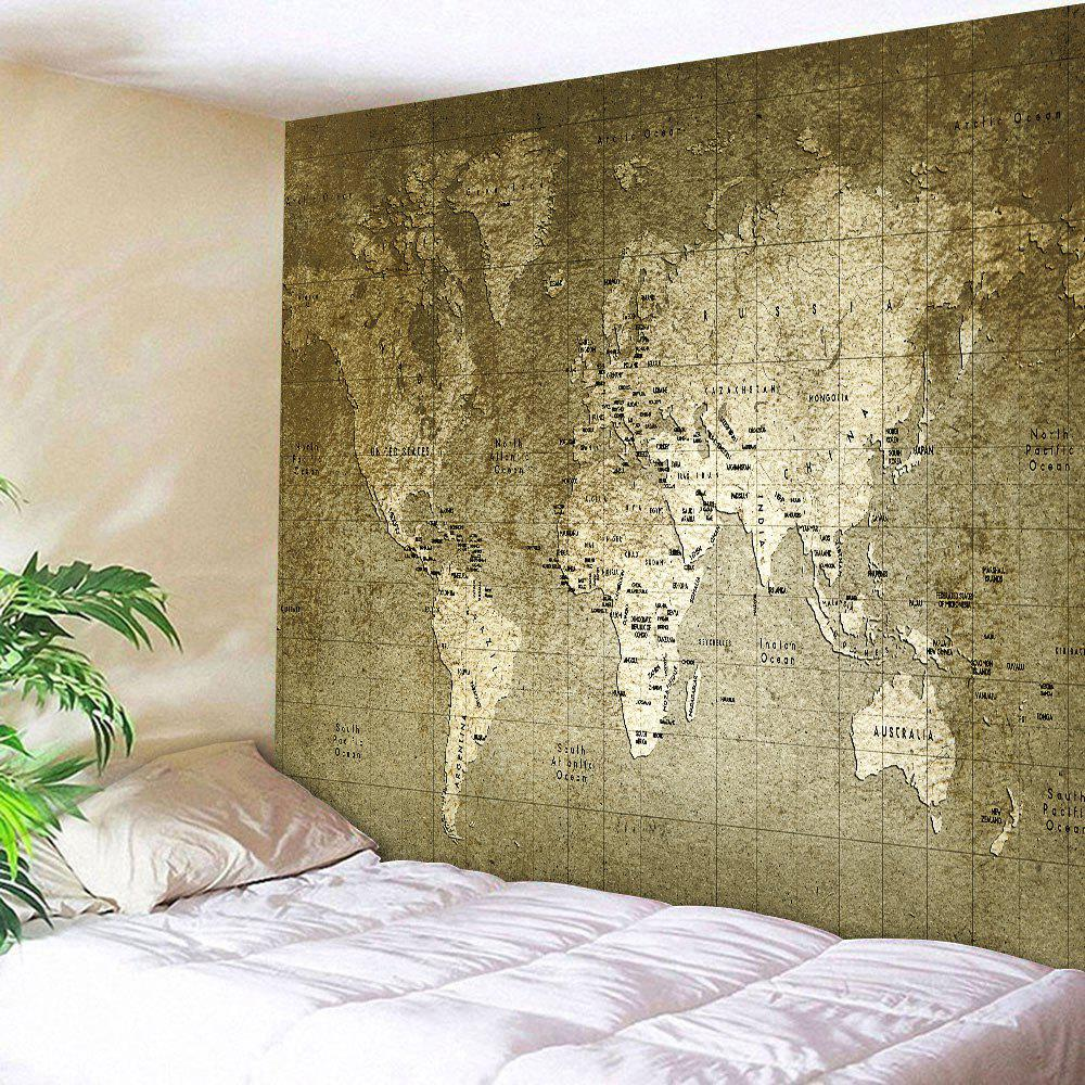 Wall Hanging Vintage World Map Tapestry retro watercolor world map tapestry wall hanging
