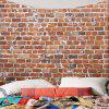 Waterproof Brick Print Wall Hanging Tapestry - BROWN W71 INCH * L71 INCH