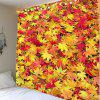 Maple Leaf Print Wall Tapestry - ORANGE RED W71 INCH * L71 INCH