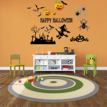 Happy Halloween Vinyl Decorative Wall Sticker - COLORMIX 50*70CM