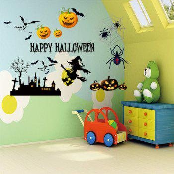 Happy Halloween Vinyl Decorative Wall Sticker - COLORMIX COLORMIX