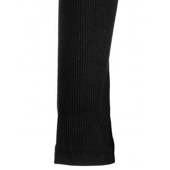 Ribbed Mini Bodycon Knitted Dress - S S