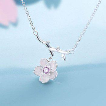 Sakura Tree Branch Pendant Necklace