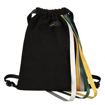 Casual Drawstring Ribbons Backpack