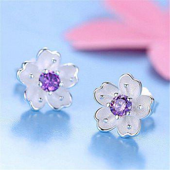 Faux Crystal Floral Earring Jackets