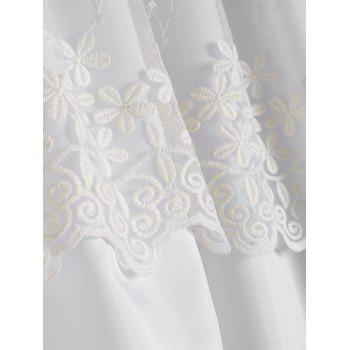 Waterproof Floral Lace Embellished Shower Curtain - W71 INCH * L79 INCH W71 INCH * L79 INCH