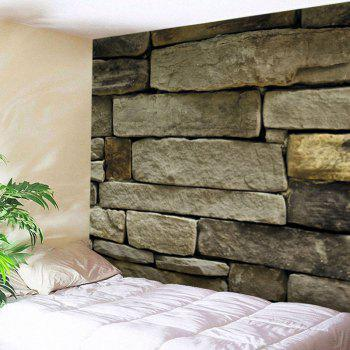Stone Brick Wall Print Tapestry Wall Hanging Art Decor - EARTHY EARTHY