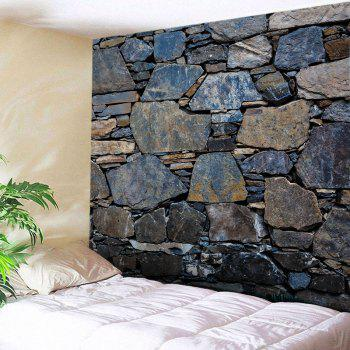 Wall Hanging Art Stone Wall Print Tapestry - MIDNIGHT W79 INCH * L59 INCH