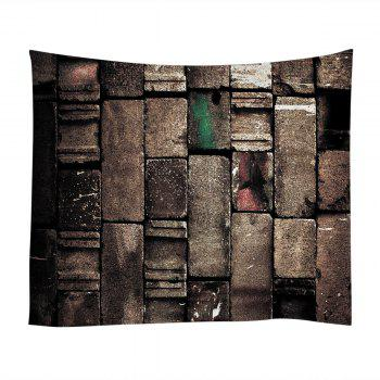 Wall Hanging Art Vintage Brick Wall Print Tapestry - W79 INCH * L59 INCH W79 INCH * L59 INCH
